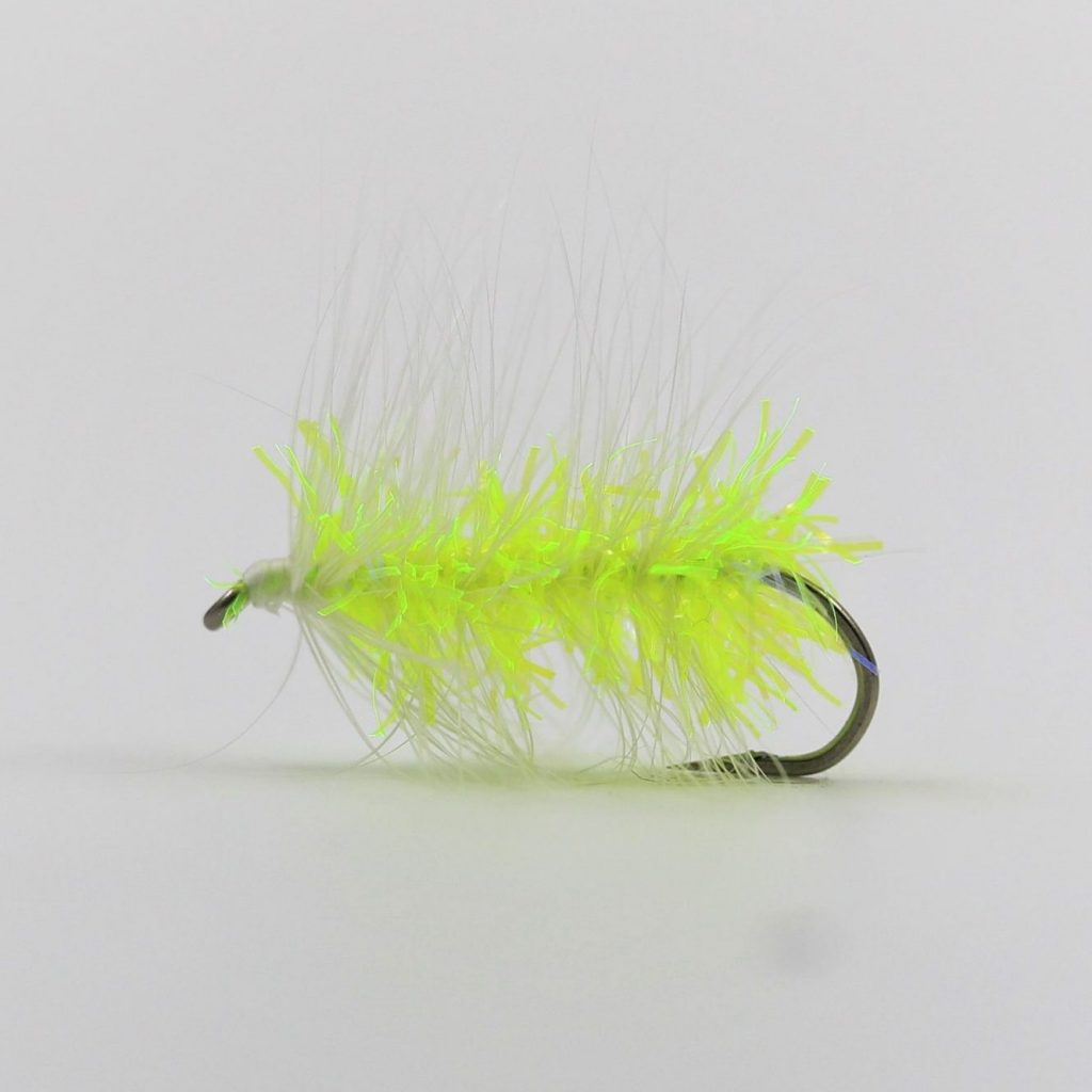 Wooly Worm - Chartreuse/White